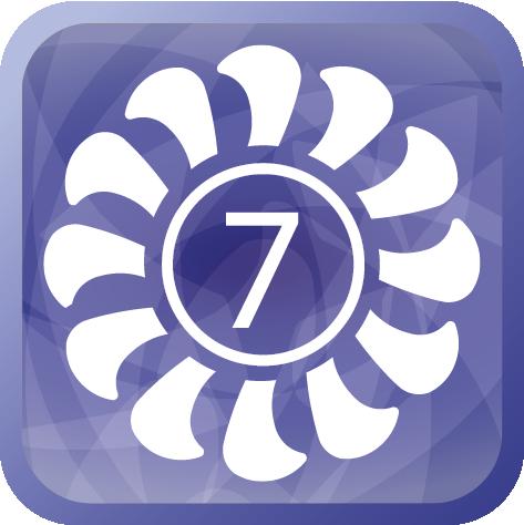 7 скоростей вентилятора внутреннего блока
